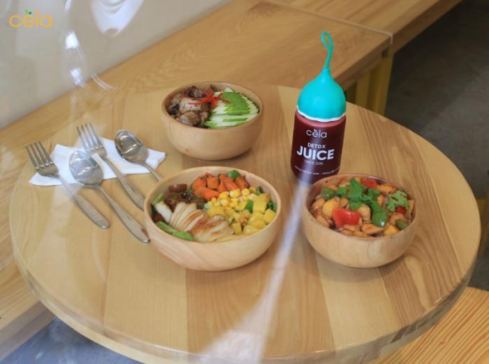 Đồ ăn healthy tại Cela