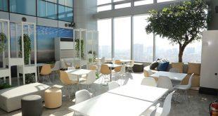 Nội thất văn phòng hiện đại của một công ty tại Lotte Tower